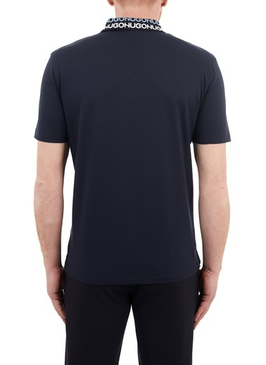 Hugo Boss  Regular Fit % 100 Pamuk Düğmeli Polo T Shirt Erkek Polo 50448861 405 Lacivert